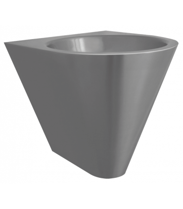 Conical floor-mounted wash basin