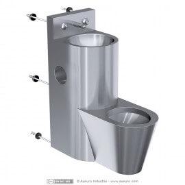 Combiné : lavabo, WC, porte papier toilette