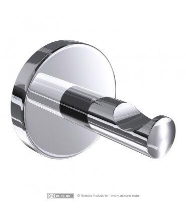 Patère en métal chromé brillant - modèle FORT