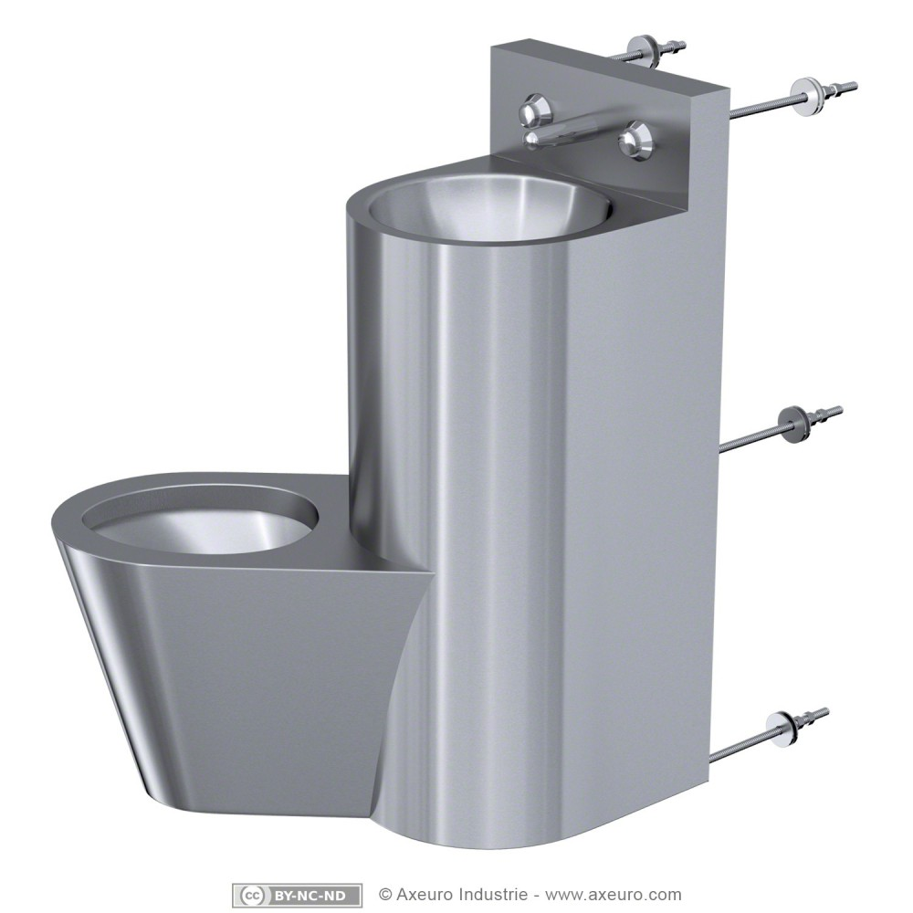 Combin lavabo wc porte papier toilette axeuro for Porte toilette