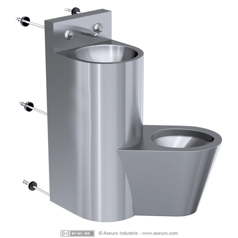 Combin lavabo wc porte papier toilette axeuro for Porte papier wc