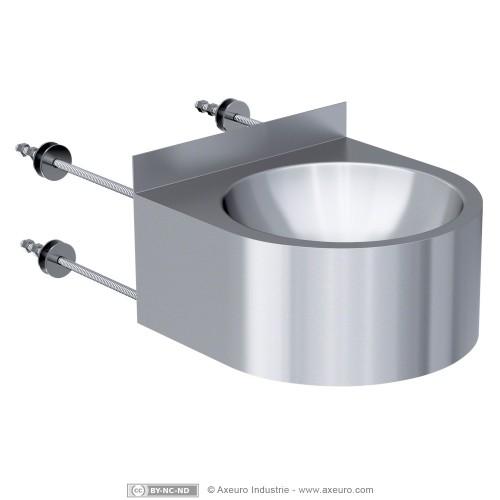 vasque individuelle d 39 angle en applique. Black Bedroom Furniture Sets. Home Design Ideas