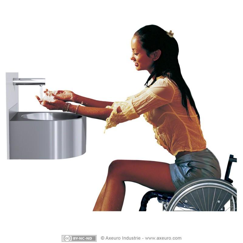 vasque compacte pour sanitaires pmr axeuro. Black Bedroom Furniture Sets. Home Design Ideas