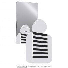 miroir inclin pour sanitaires handicap s. Black Bedroom Furniture Sets. Home Design Ideas