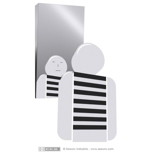 Miroir en inox 304 18 10 incassable for Miroir incassable