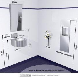 Combiné encastré : distributeur d'essuie-mains et poubelle