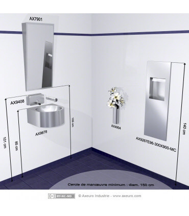 Tilted mirror - washroom for disabled people