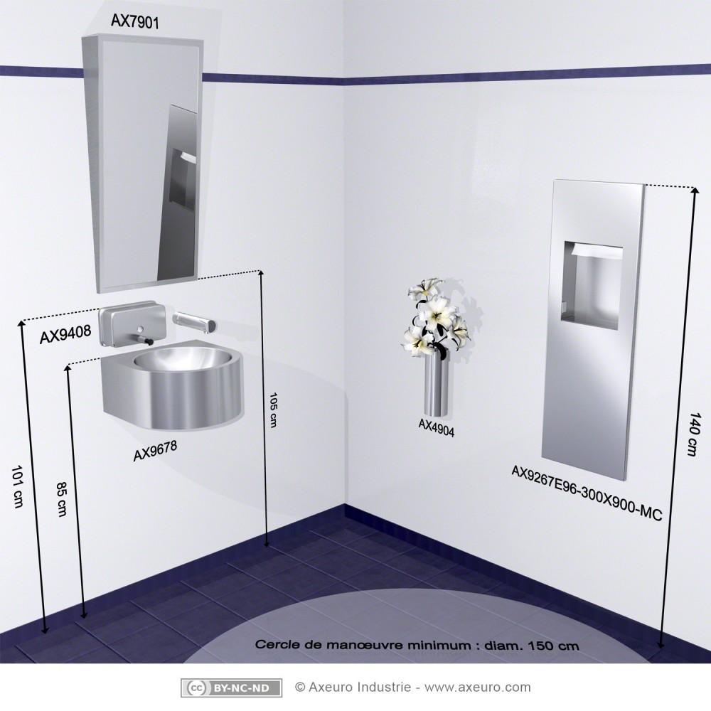 Hauteur Wc Pmr : Espejo inclinado baños para minusválidos