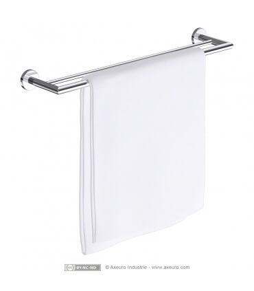 Porte-serviette luxe - DOUBLE - en laiton chromé - longueur 650 mm