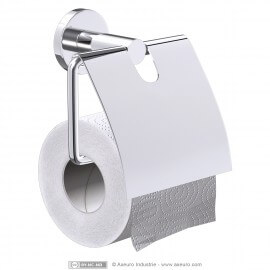 Distributeur de papier toilette chromé brillant
