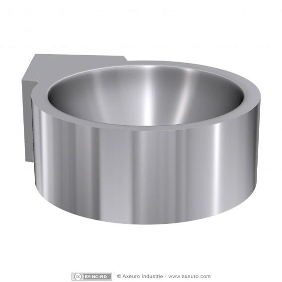 Single corner floor-mounted wash basin