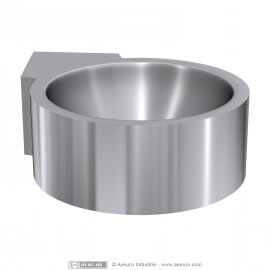 Vasque individuelle d'angle en applique