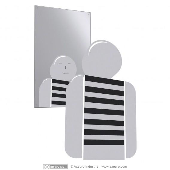 Unzerbrechlich Spiegel aus Edelstahl