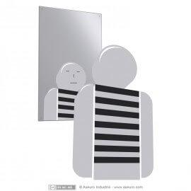 Espejo irrompible en acero inox