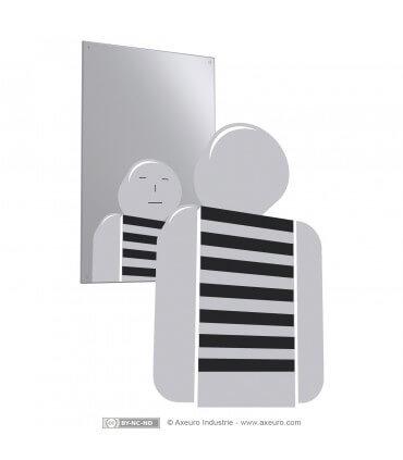 Specchio in inox infrangibile