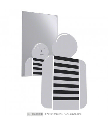Unbreakable stainless steel mirror