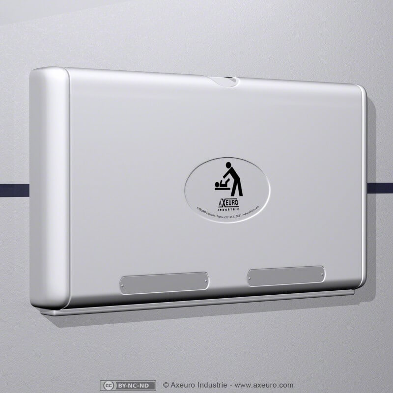 Wall-mounted changing table