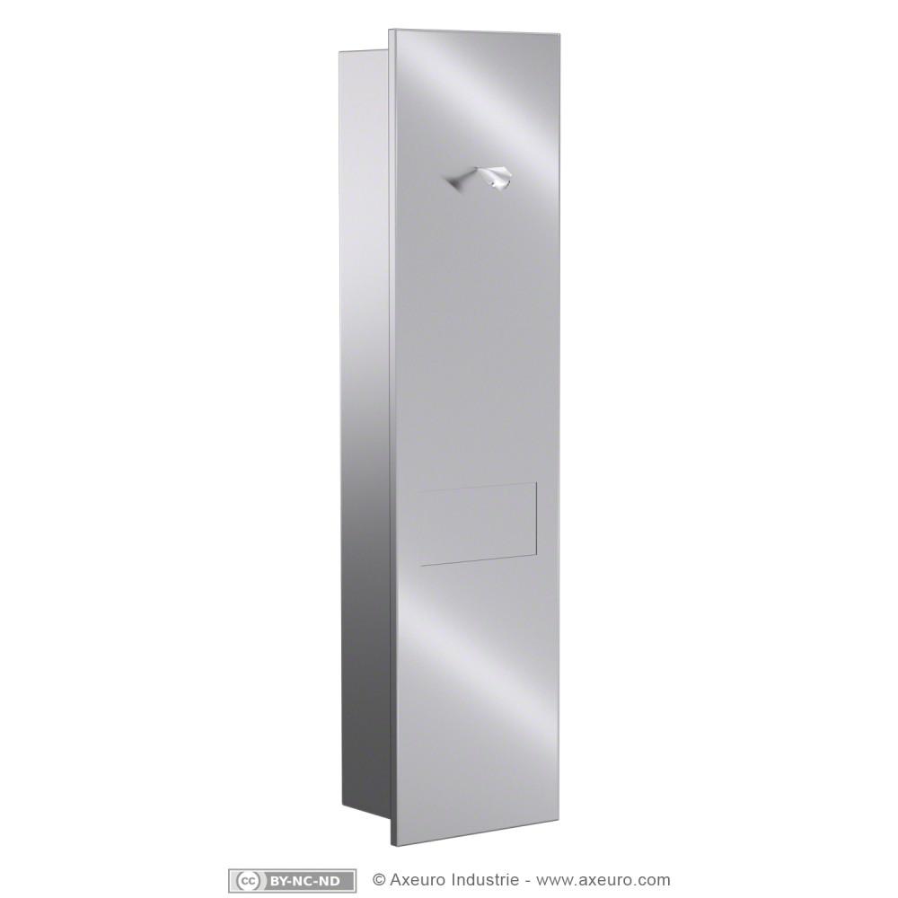 combin encastrer distributeur de papier toilette et poubelle axeuro. Black Bedroom Furniture Sets. Home Design Ideas