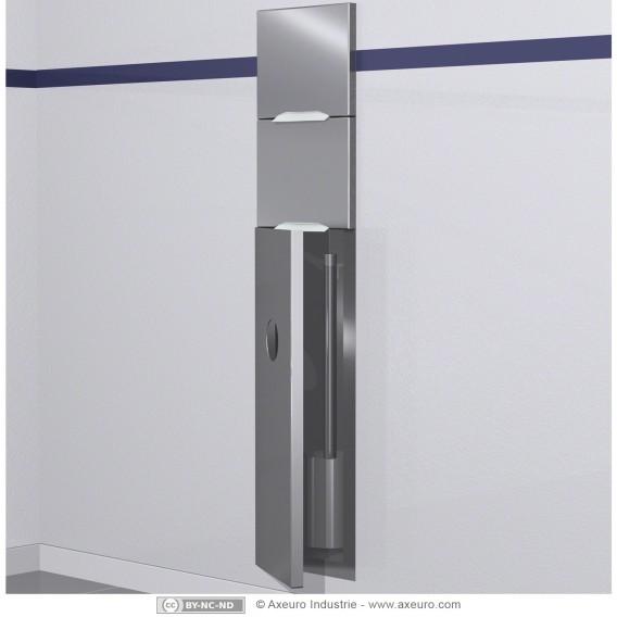 Combiné : double distributeur de papier toilette et balai WC