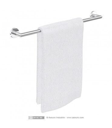 Porte-serviette luxe en laiton chromé - longueur 650 mm
