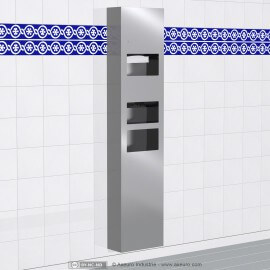 3-in-1 Combo Unit :br /Electronic Hand dryer, Paper Towel Dispenser and Waste Receptacle