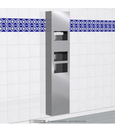 Combiné 3 en 1 : sèche-mains électronique, distributeur d'essuie-mains et poubelle