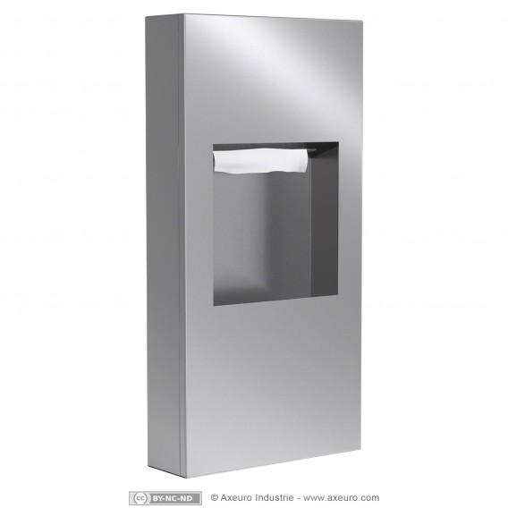 Combiné distributeur d'essuie-mains et poubelle