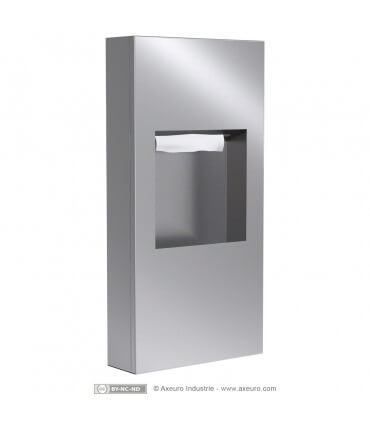 Combo unit : paper towel dispenser and waste receptacle