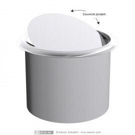 Dessus de poubelle circulaire à encastrer avec couvercle