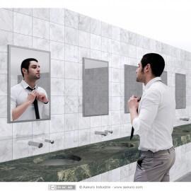 Flat glass mirror