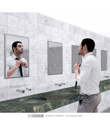 Flat glass mirror