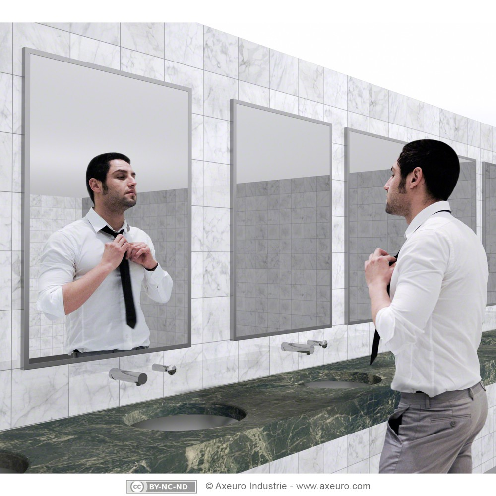 miroir plat en verre axeuro. Black Bedroom Furniture Sets. Home Design Ideas