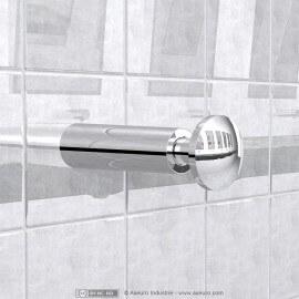 Wall-recessed soap dispenser