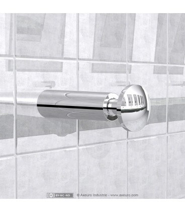 Wall-recessed soap dispenser