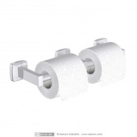 Economical double toilet tissue dispenser