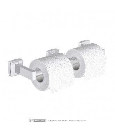 Economical double toilet tissue dispenser