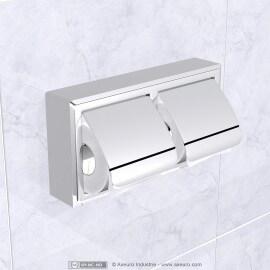 Double distributeur de papier toilette