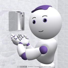 Sèche-mains automatique ultra rapide