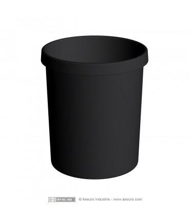 Poubelle en plastique noir