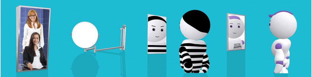 Sanitary mirrors