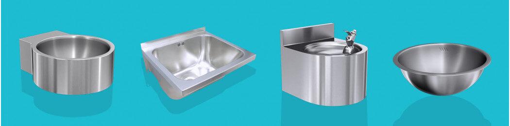 Vasques, lave-mains, fontaines à boire (fontaine à eau à branchement direct sur arrivée d'eau)...