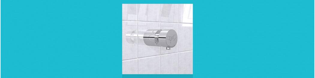 Distributeurs de savon à encastrer au mur