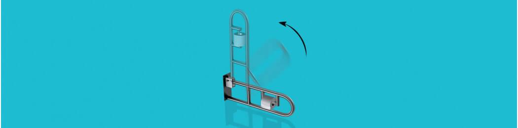 Bewegliche Haltegriffe (hochklappbar und schwenkbar)