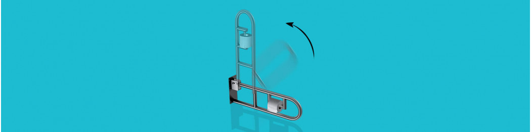 Movable grab bars (Swing-up and swivel)