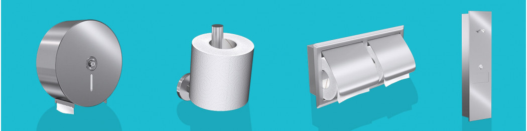 Paper tissue dispensers