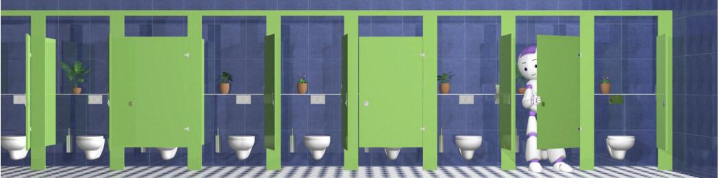 Toilettenschüsselseite