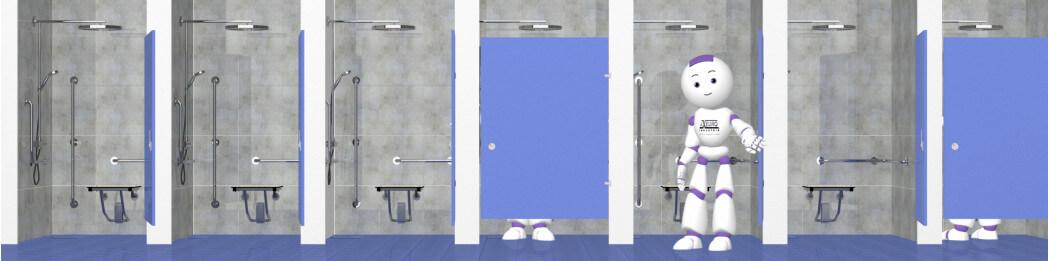 Lado de la ducha