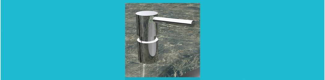 Countertop mounted soap dispenser