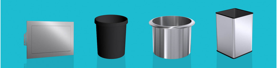 Contenedores de basura para integrar en un mueble o tocador