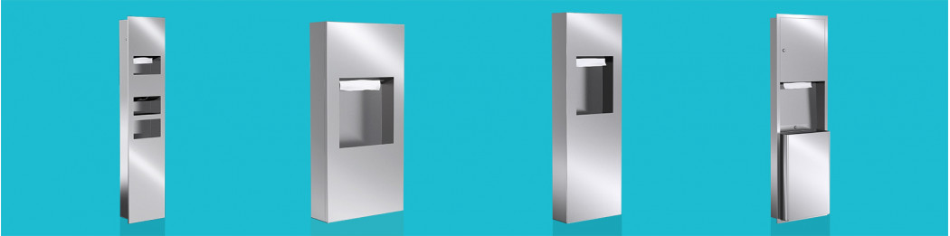 Combi Paper Towel dispenser and Waste receptacle